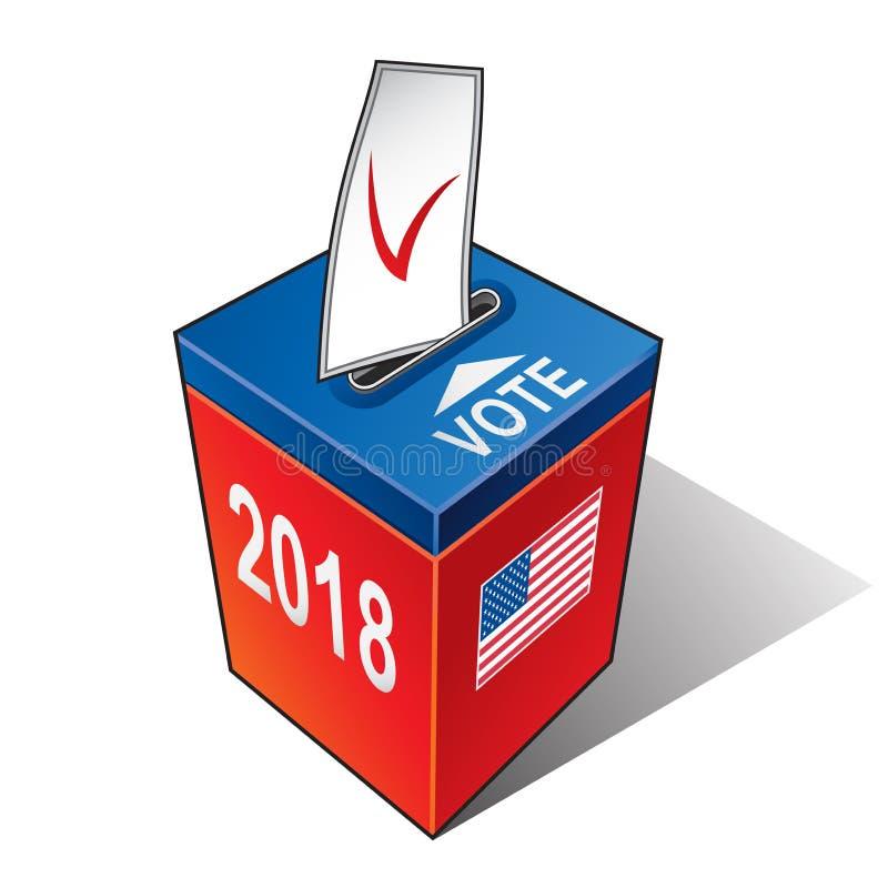 USA wybory 2018 rok royalty ilustracja