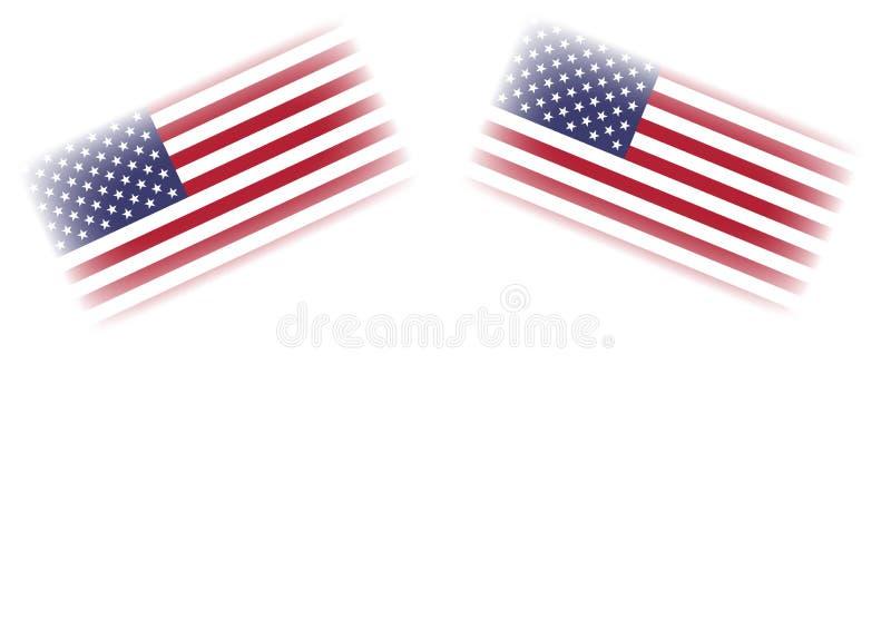 USA zaznacza ilustrację odizolowywającą w białym tle obraz royalty free