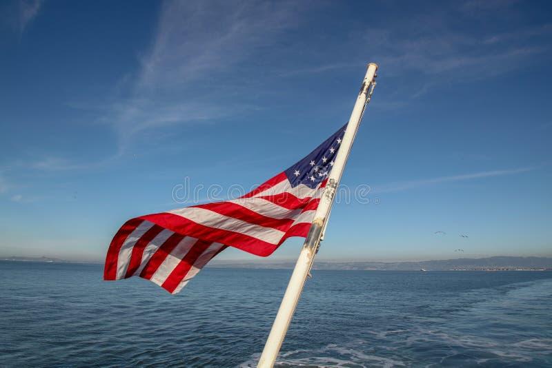 Usa zaznaczają na morzu przy San Francisco, usa obrazy stock