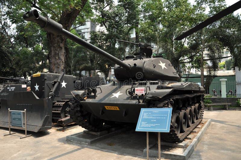 USA zbiornik wystawiający w Wojennych szczątkach Muzealnych w Saigon, Wietnam obrazy royalty free