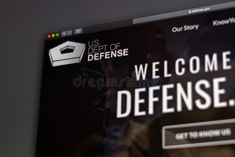 USA Zg??biaj?ca Obro?czy strony internetowej homepage Zamyka w g?r? Pentagon logo fotografia royalty free