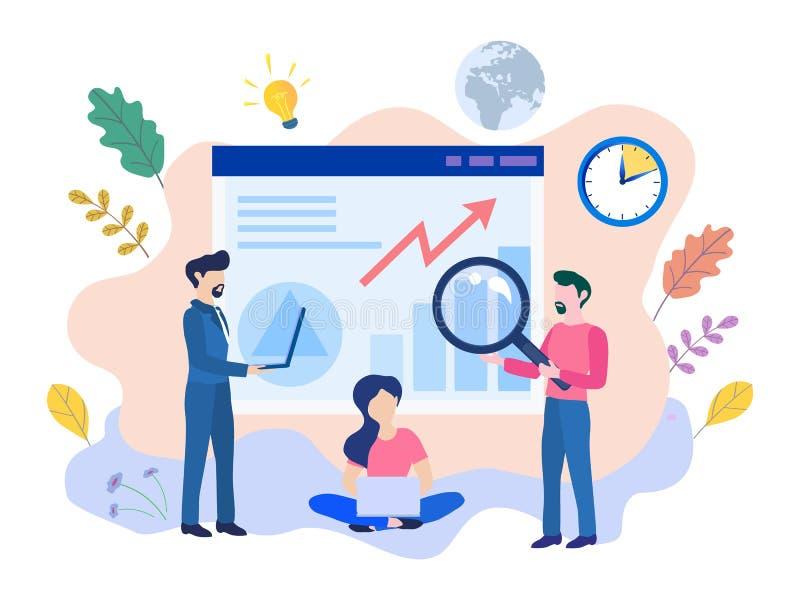 A usabilidade do projeto do desenvolvimento da experiência do usuário de Ux do conceito melhora ilustração stock