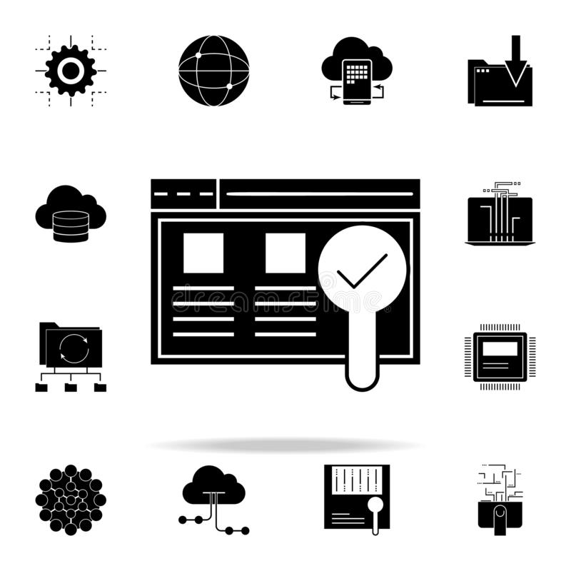 Usability testing icon. Web Development icons universal set for web and mobile. On white background vector illustration