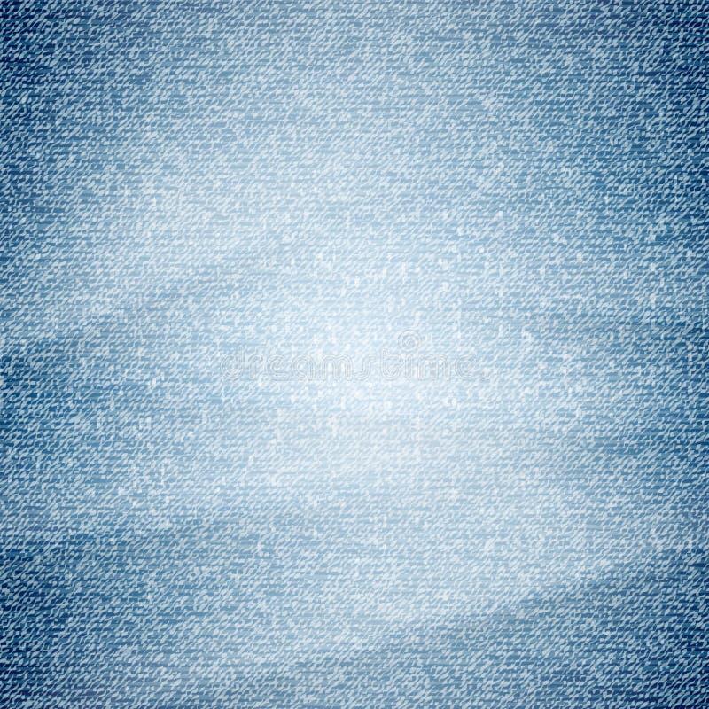 Usada textura del dril de algodón ilustración del vector