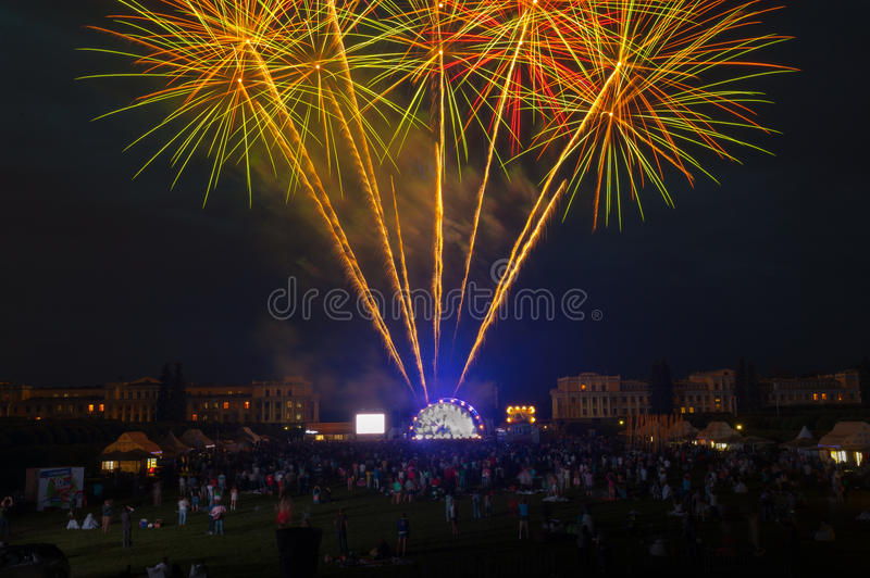 Download Usadba Jazz Festival editorial stock image. Image of colorful - 31745474