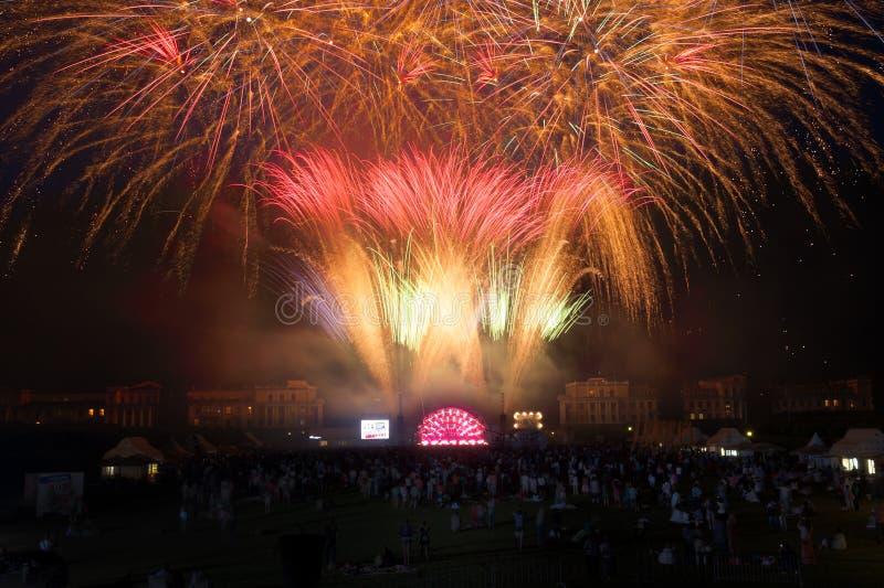 Download Usadba Jazz Festival editorial stock image. Image of fire - 31745559