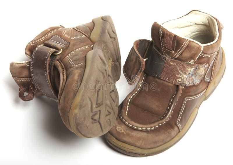 Usados zapatos foto de archivo