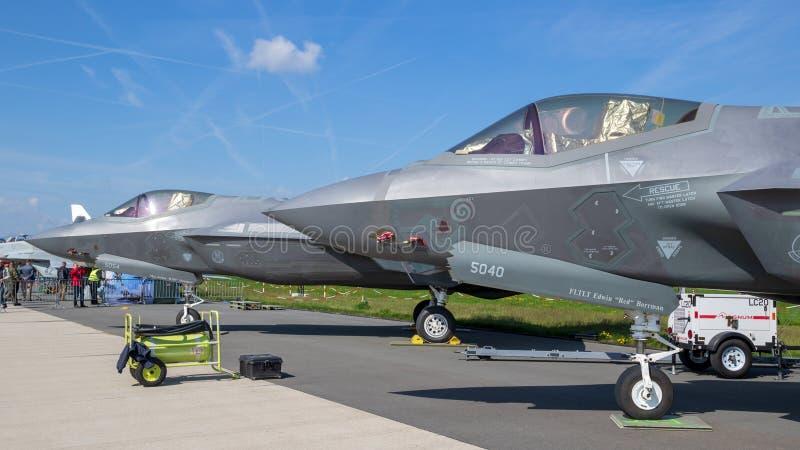 USAF F-35 Lightning II fighter jets royalty free stock image