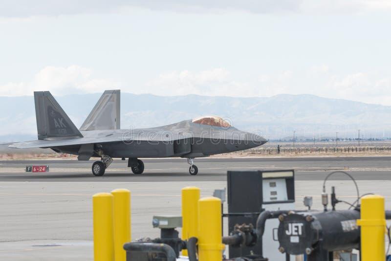 USAF Lockheed Martin φ-22 αρπακτικό πτηνό στοκ φωτογραφίες
