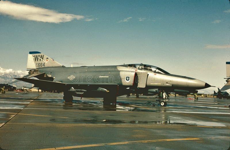 USAF McDonnell die F-4E op een andere opdracht de wachten royalty-vrije stock fotografie