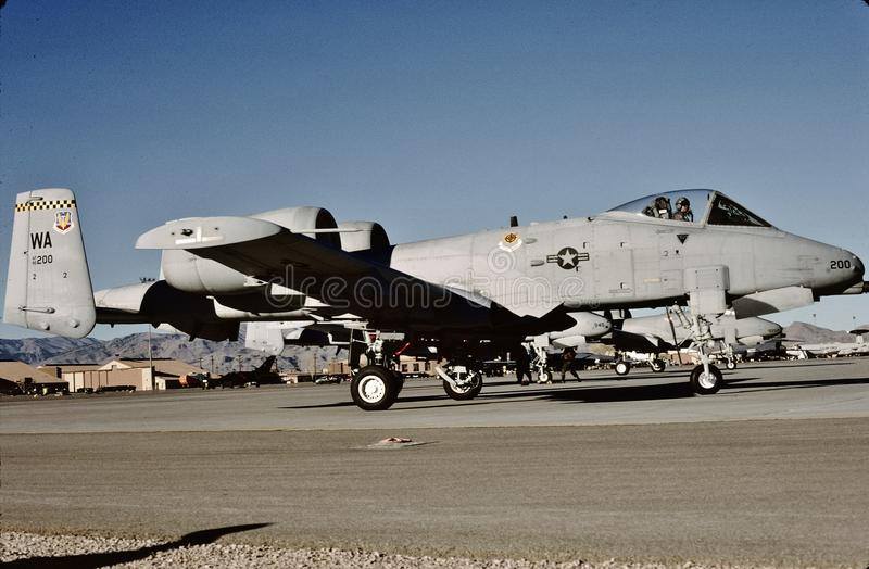 Download USAF Republic Fairchild A-10A 80-200 At Nellis AFB Editorial Photography - Image of aircraft, united: 102766397