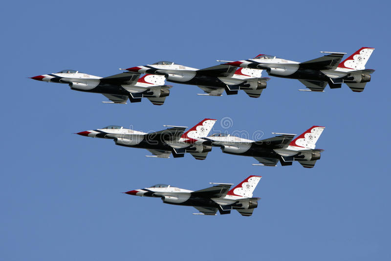 Download USAF Thunderbirds stock photo. Image of arrow, states - 22969278