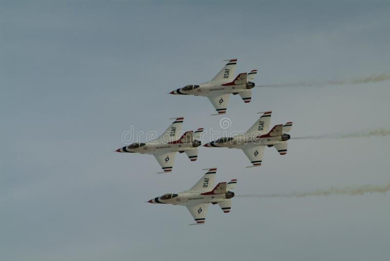 USAF Thunderbirds στοκ εικόνα με δικαίωμα ελεύθερης χρήσης