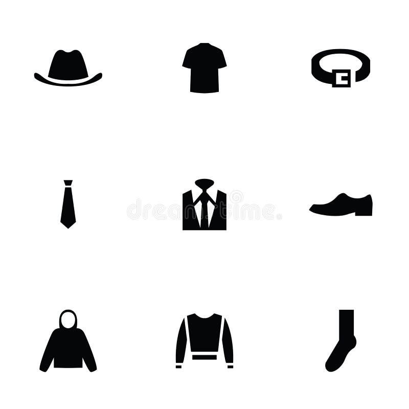 Usage d'homme 9 icônes réglées illustration de vecteur