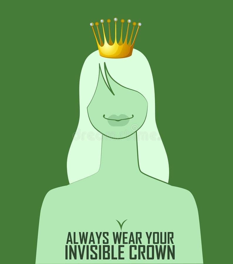 Usage de citation 'toujours votre couronne invisible illustration stock