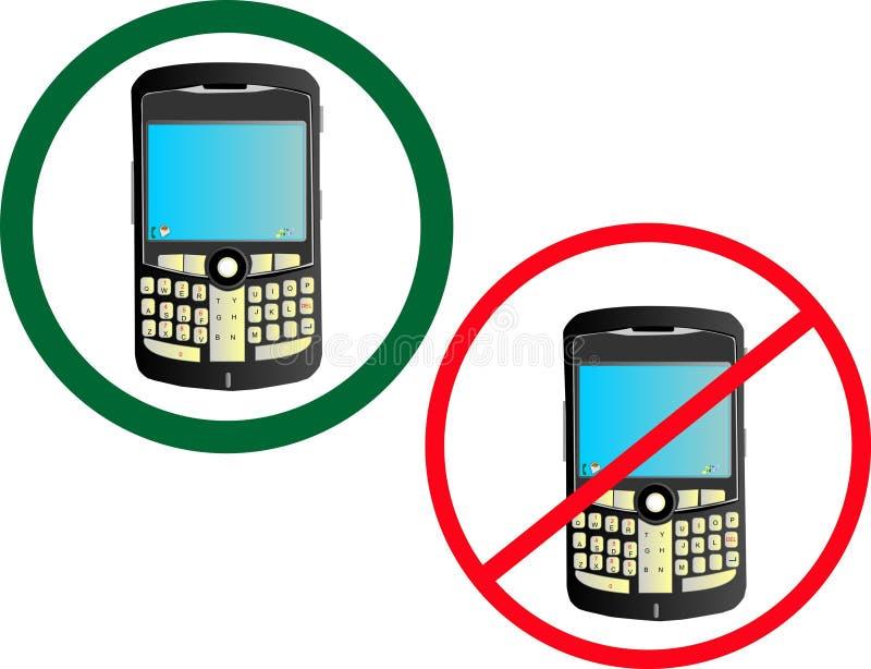 Usage de téléphone portable illustration stock
