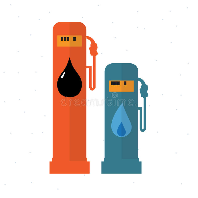 Usage of Gas and Oil -. Illustration vector illustration
