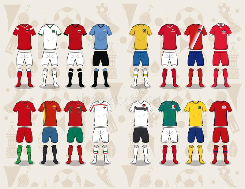 Usage Russie 2018 de sport du football illustration stock