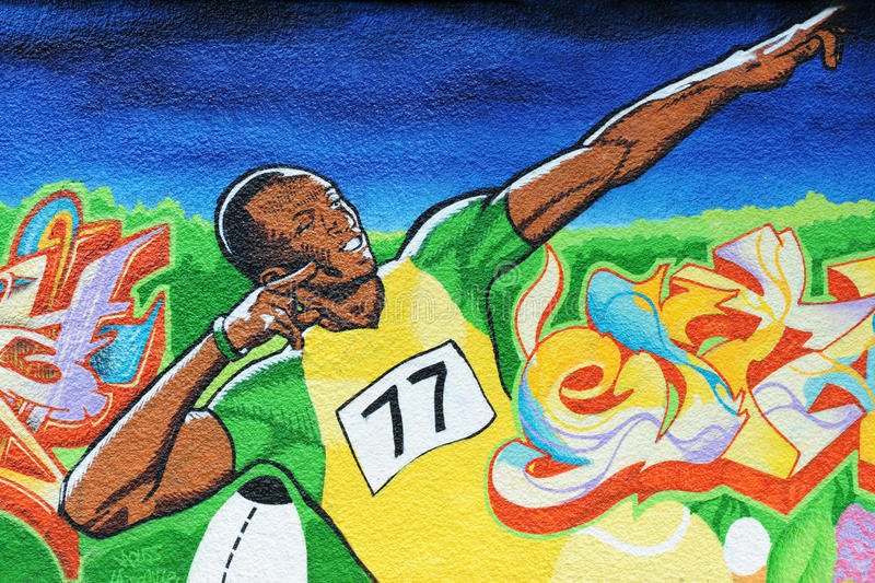 Usain bolt royalty free stock images