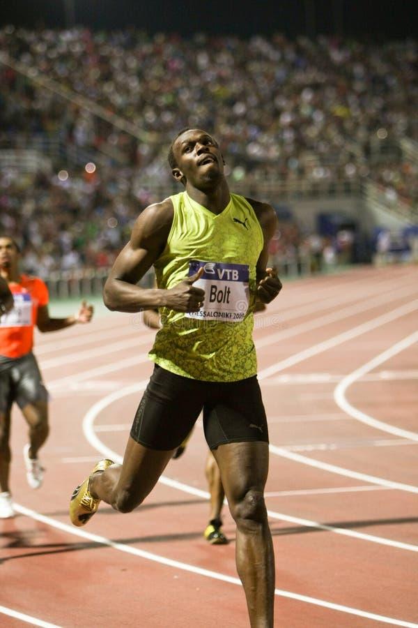 Usain Bolt Mens 100m World Athletics Final 2009 royalty free stock photo