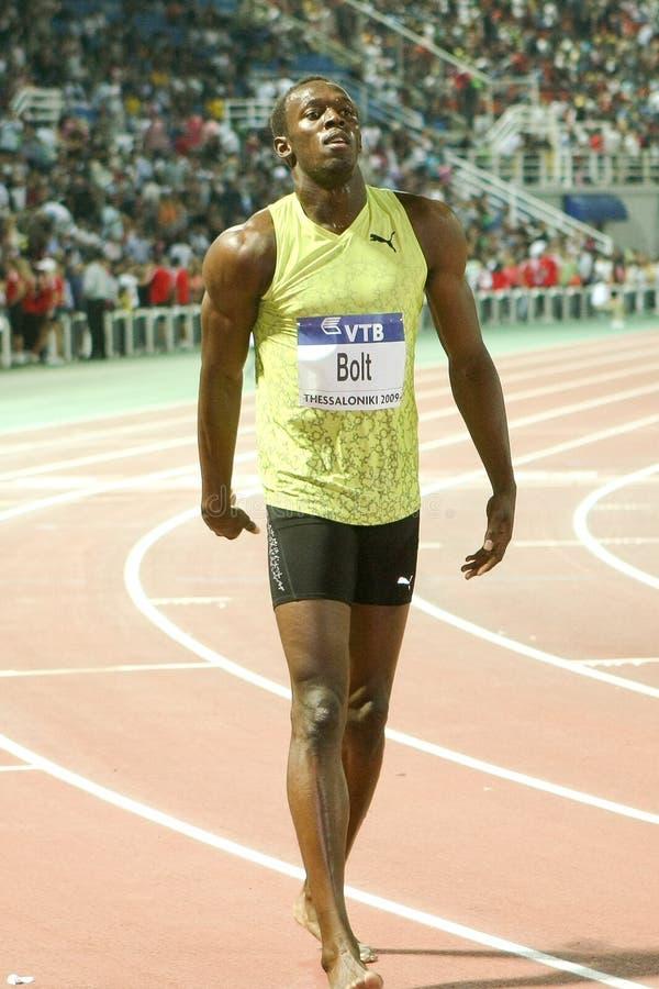 Usain Bolt Mens 100m World Athletics Final 2009 stock photography