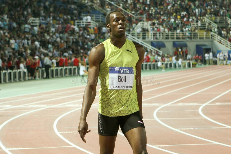 Usain Bolt Mens 100m World Athletics Final 2009 stock image
