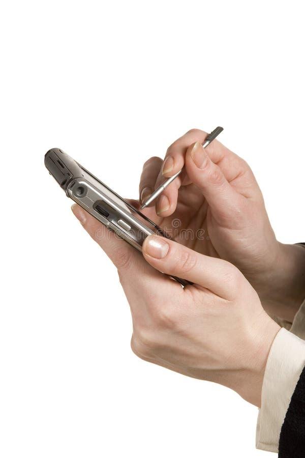 Usando PDA fotografía de archivo
