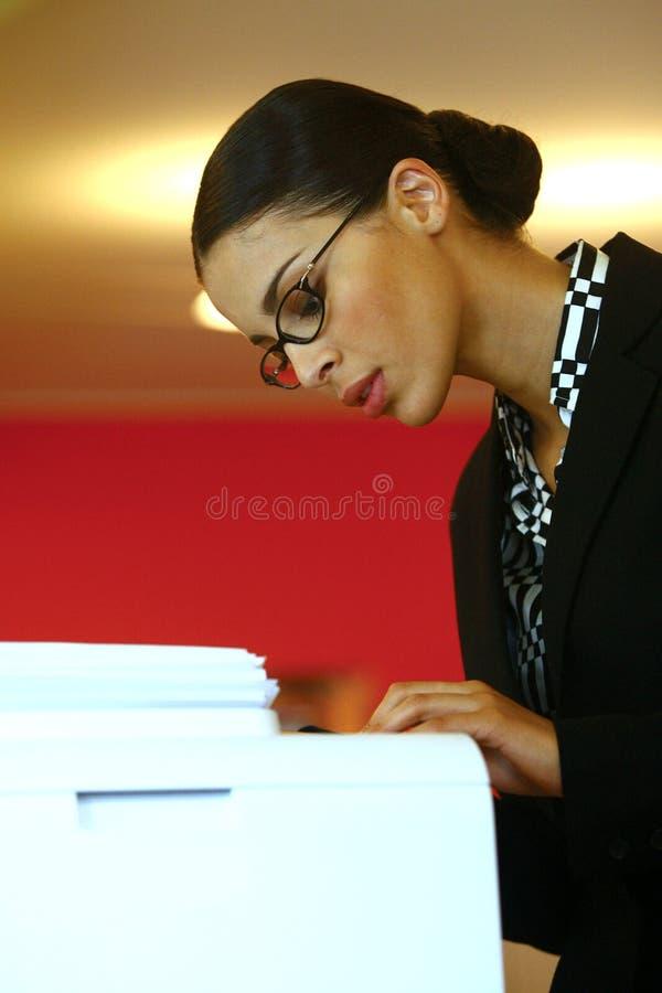 Usando Xerox foto de stock royalty free
