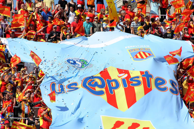 Download USAP Perpignan's Supporters Editorial Photo - Image: 20723801