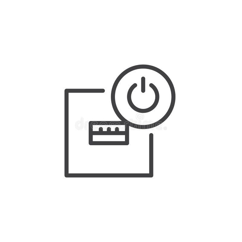 USB端口离线象 向量例证