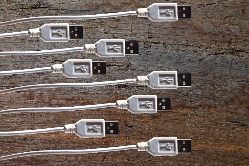 USB缆绳-数据缆绳-绳子-导线 库存照片
