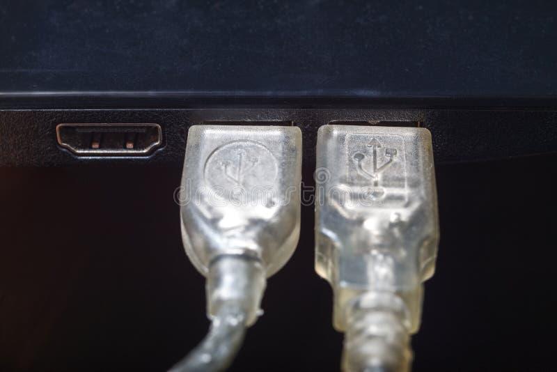 USB缆绳 免版税库存照片