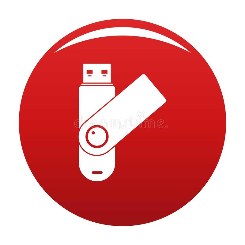 Usb设备象传染媒介红色 皇族释放例证