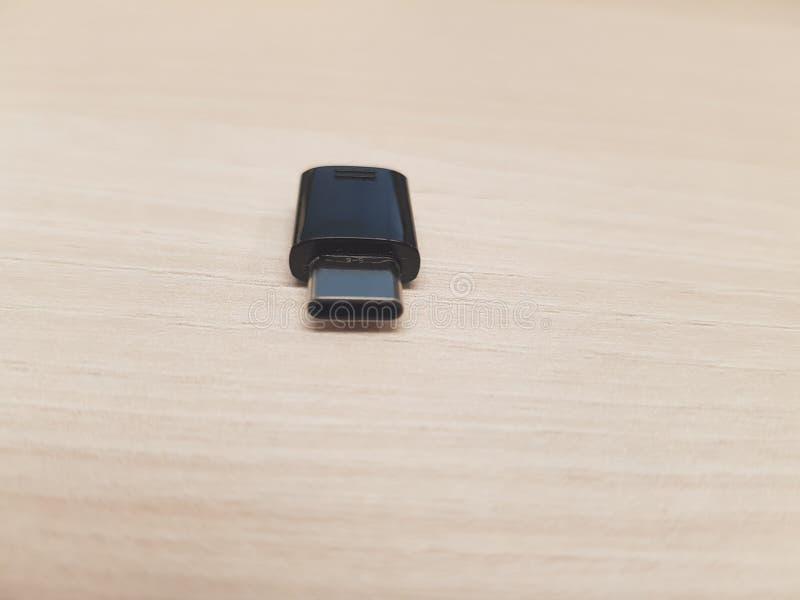 USB适配器连接器类型C的图象 图库摄影