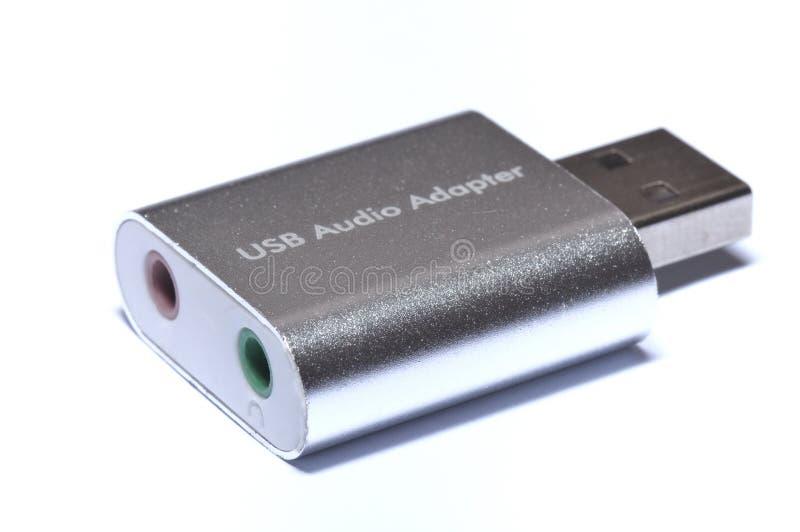 USB音频适配器 库存图片