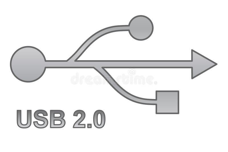 usb électronique de signe de surface adjacente de matériel illustration libre de droits