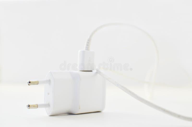 Usb ładuje biel zdjęcie stock