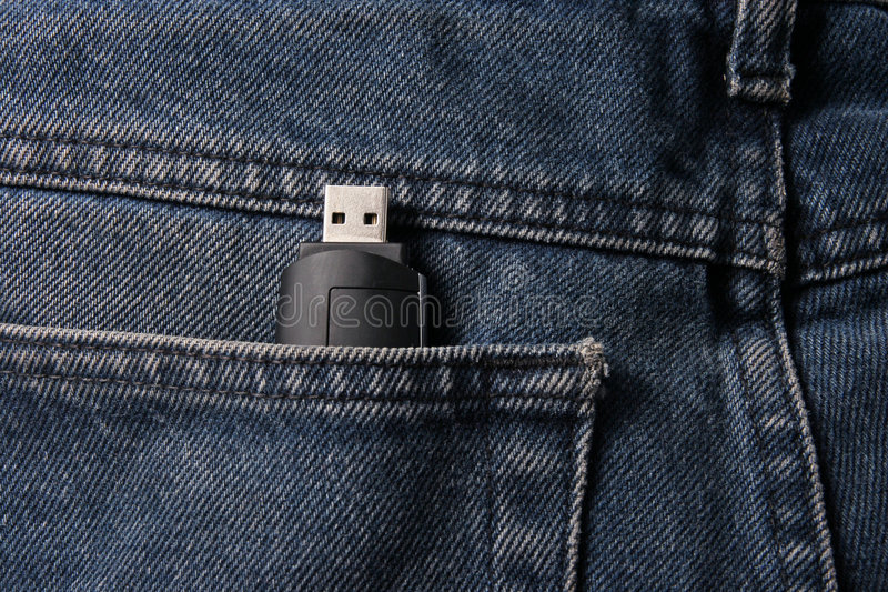 usb брюк памяти стоковое изображение rf