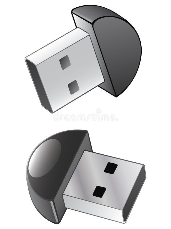usb иконы bluetooth иллюстрация вектора