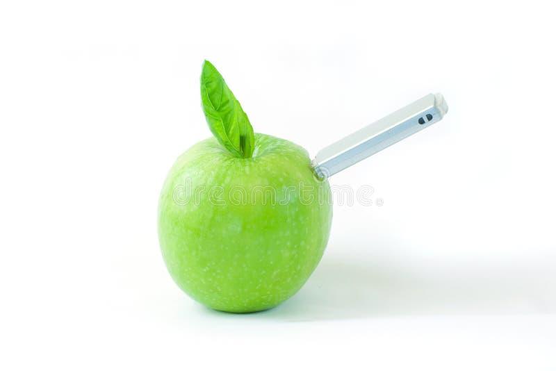 usb яблока стоковое изображение rf
