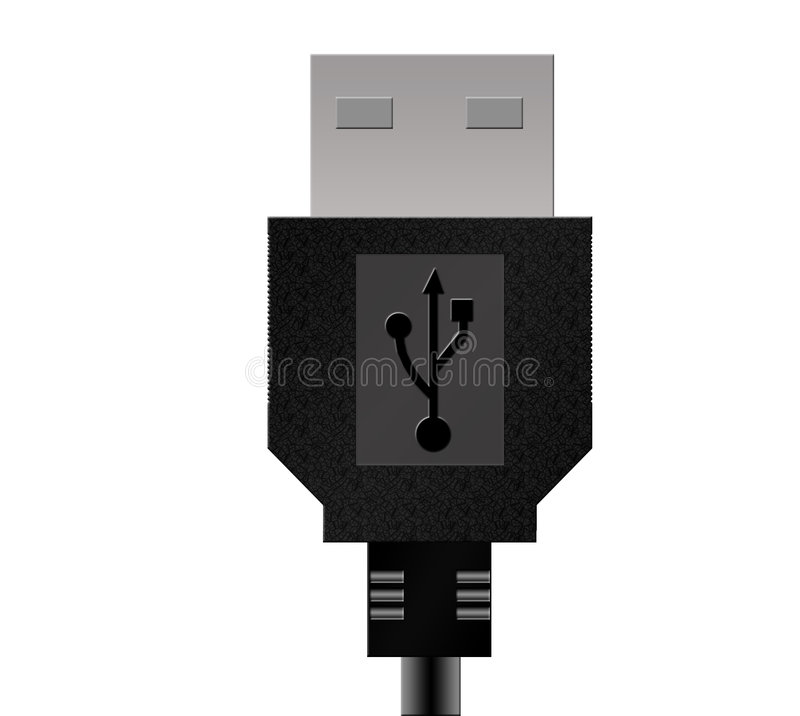 USB. An USB Data Cable stock illustration