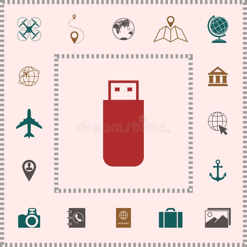 USB błyskowej pamięci przejażdżki ikona elementy projektów galerii ikony widzą odwiedzić twój więcej moich piktogramy proszę ilustracji