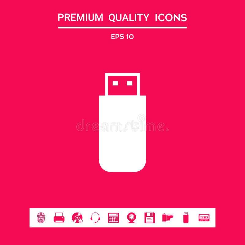 USB błyskowej pamięci przejażdżki ikona Graficzni elementy dla twój projekta ilustracji