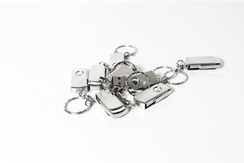 USB błysku przejażdżki z metalu budynek mieszkalny obraz royalty free