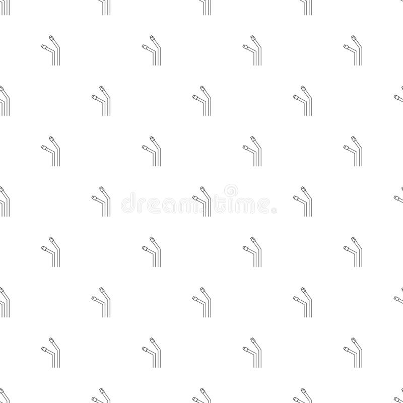 USB cable background from line icon. Linear vector pattern. vector illustration