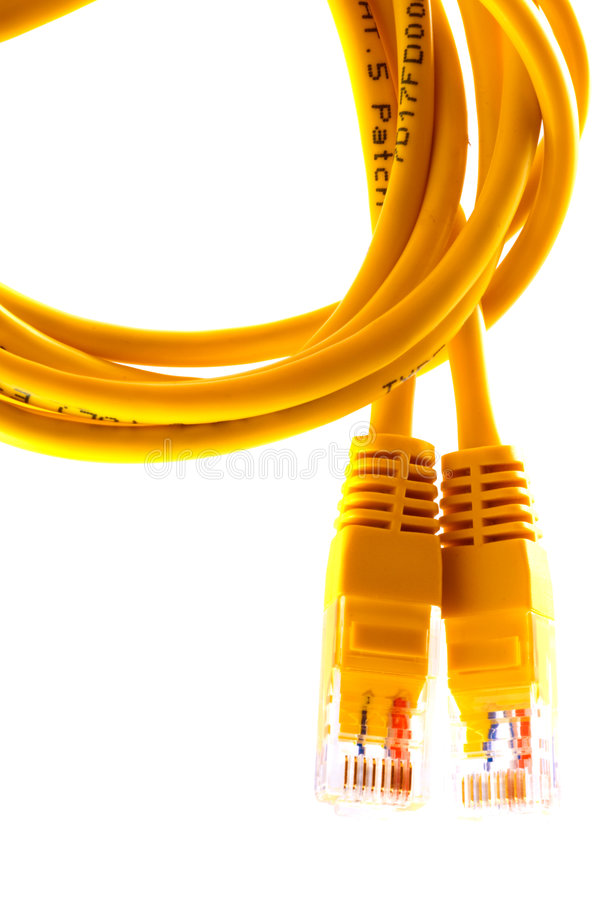 USB cable. On white background royalty free stock photos
