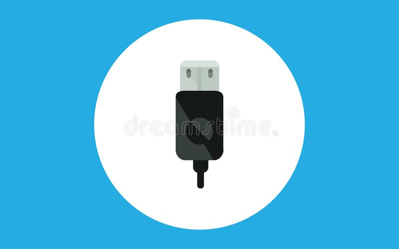 Usb cable vector icon sign symbol. USB cable icon. Element of computer parts with name icon for mobile concept and web apps. Filled outline USB cable icon can be vector illustration