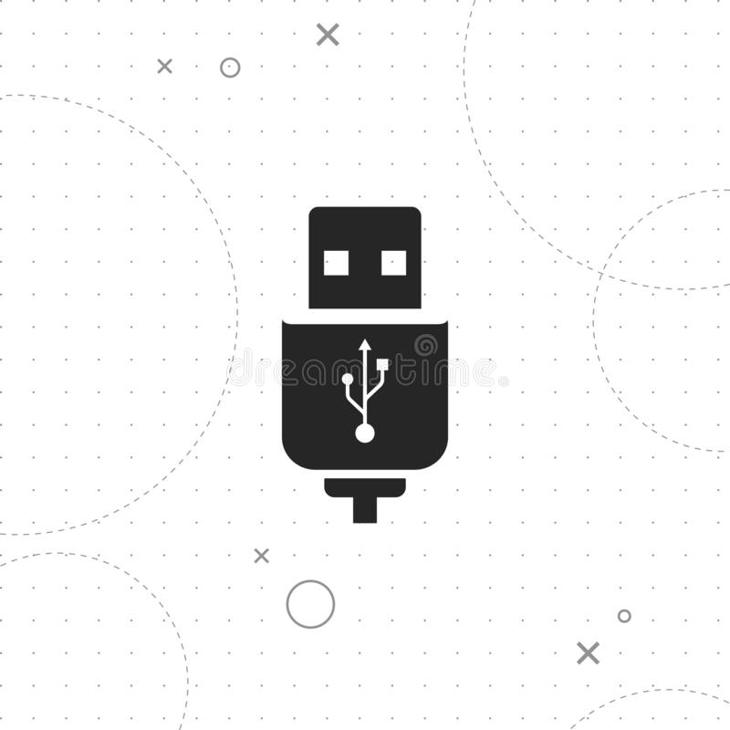 Usb cable icon. Vector best on texture background , EPS 10 vector illustration