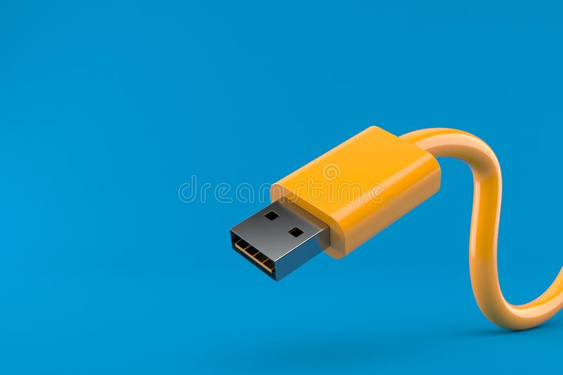 Usb cable royalty free illustration