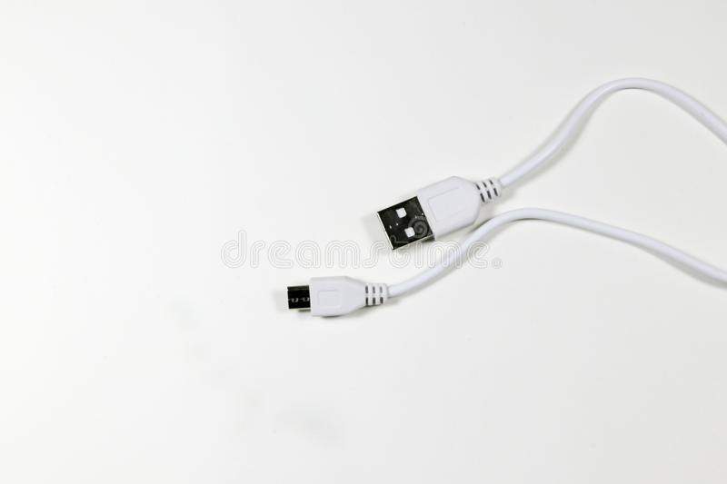 Usb cable plug stock photo. Image of data, isolated - 105382300